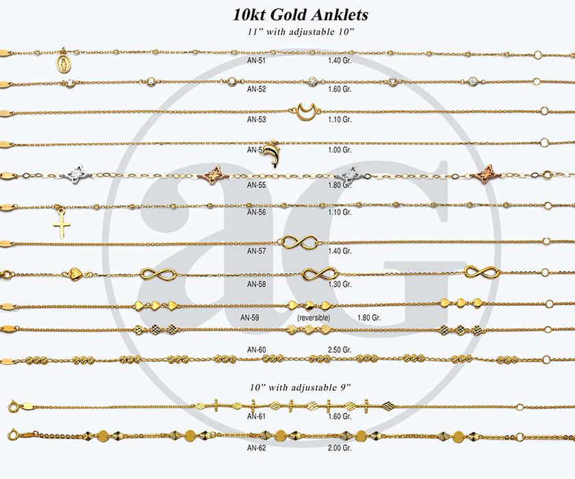 10kt Gold Anklets-4