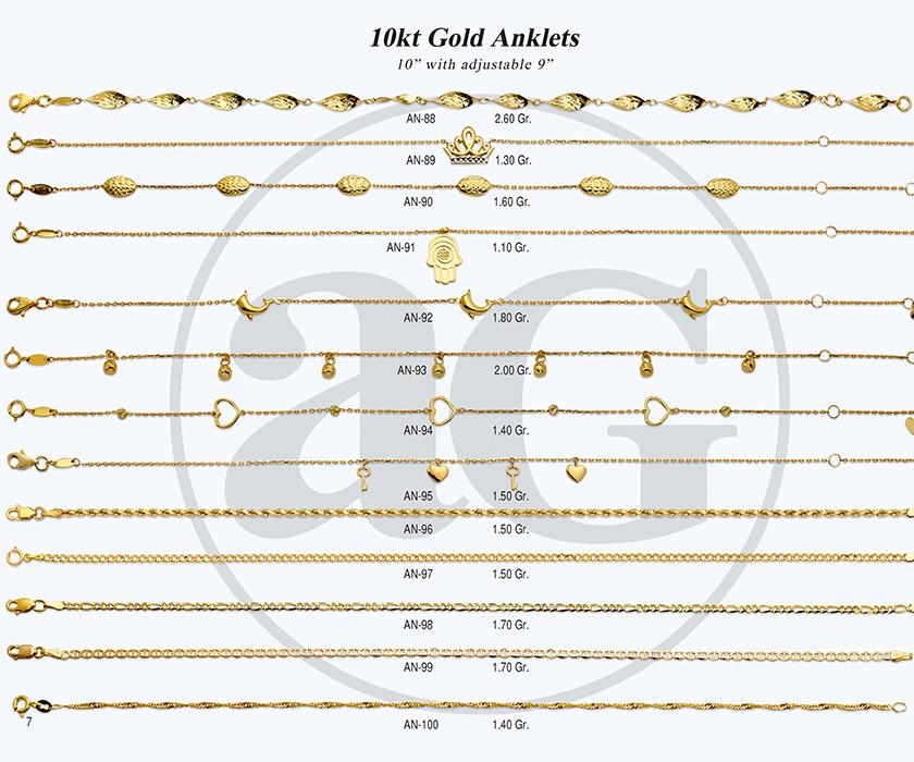 10kt Gold Anklets-7