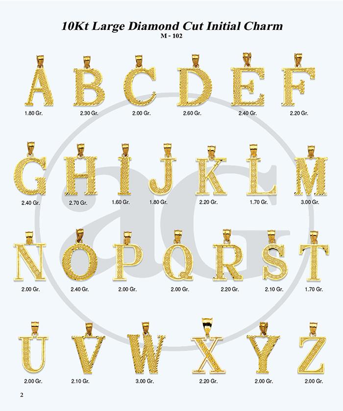 10kt Gold Initials Catalog-2
