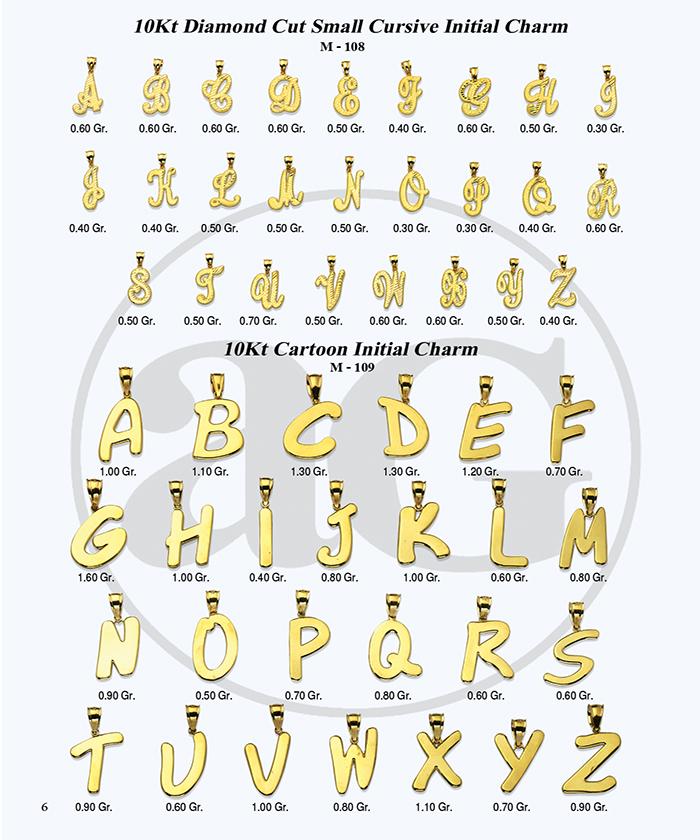 10kt Gold Initials Catalog-6