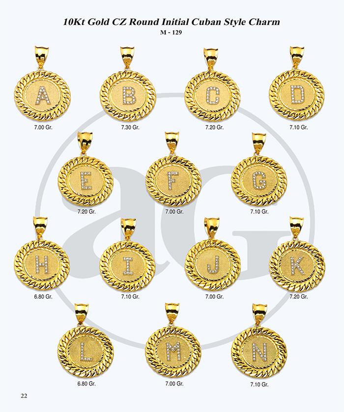 10kt Gold Initials Catalog-22