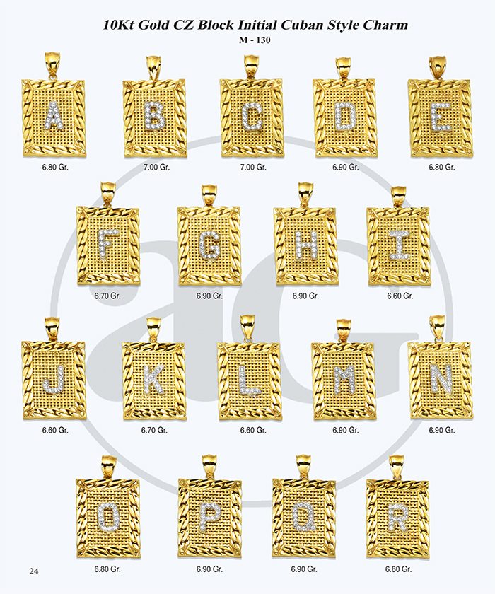 10kt Gold Initials Catalog-24