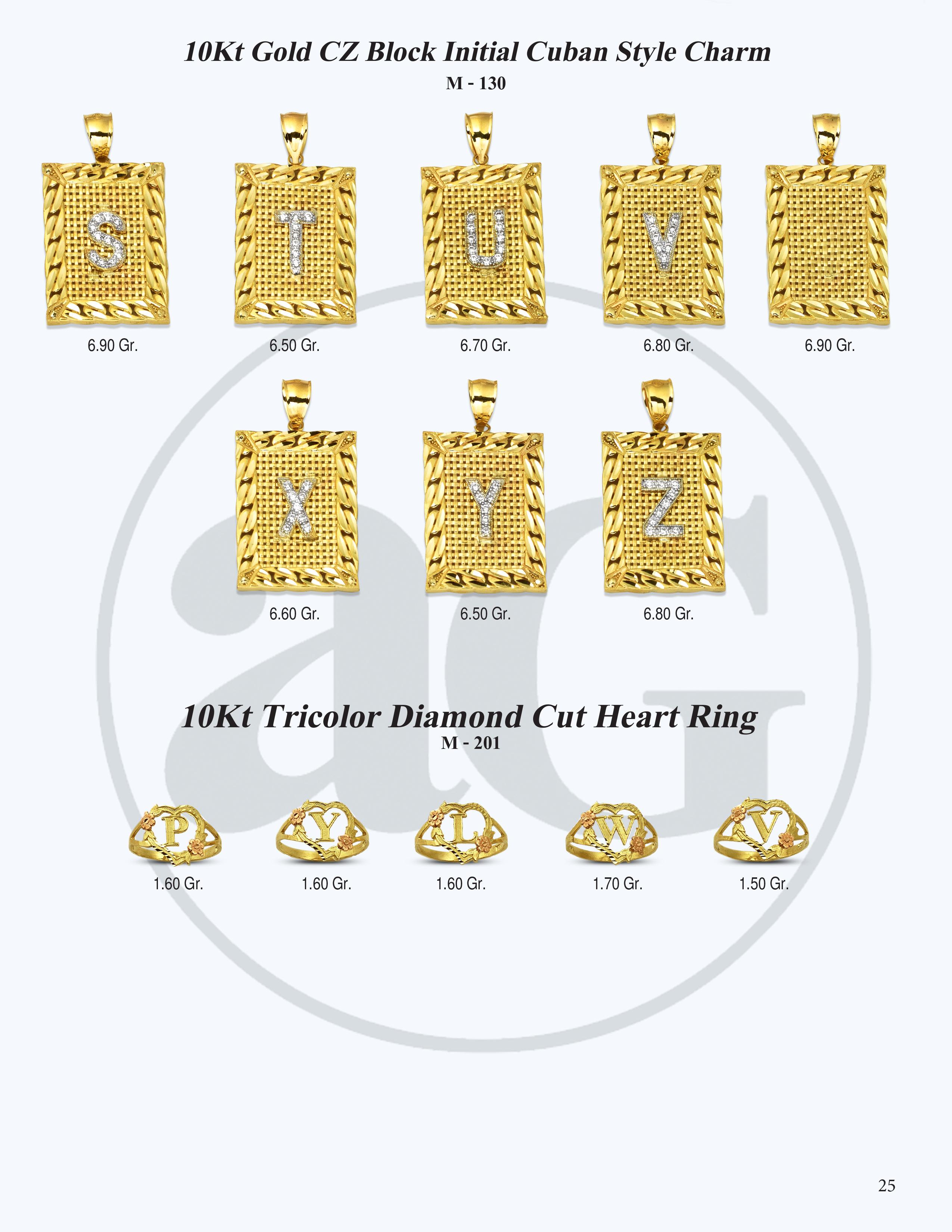 10kt Gold Initials Catalog-25