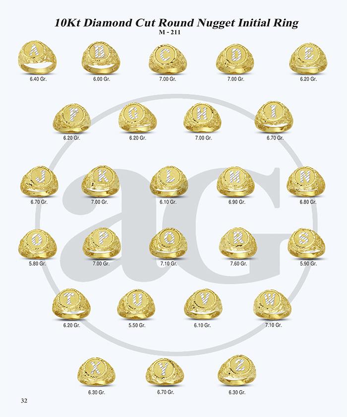 10kt Gold Initials Catalog-32