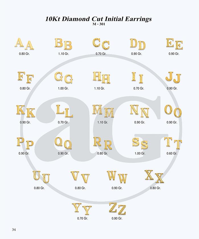 10kt Gold Initials Catalog-34