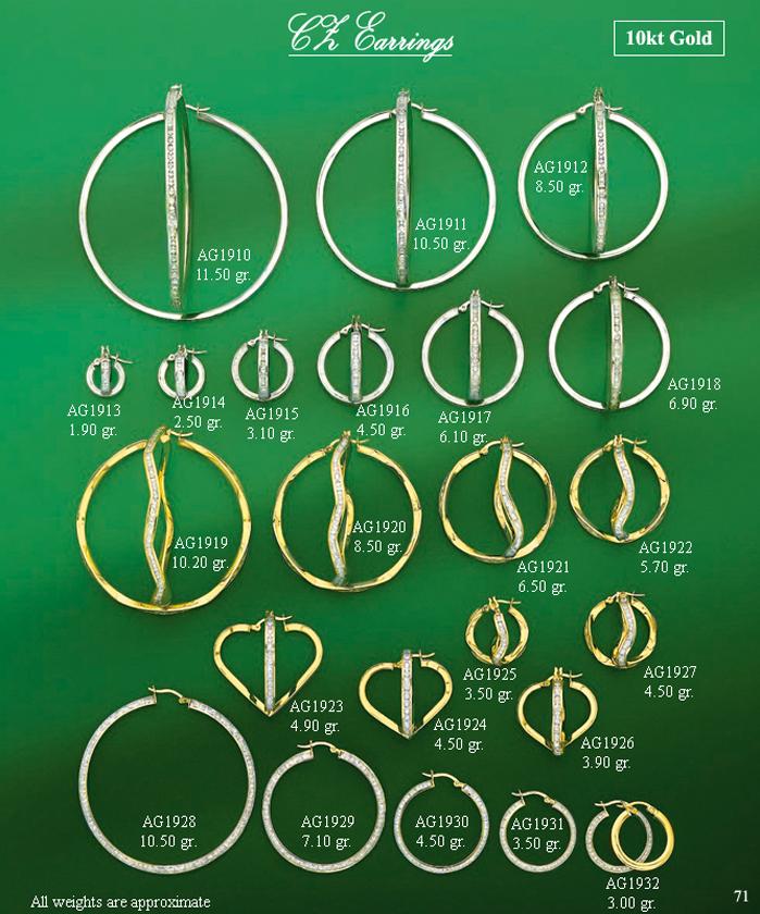 Page 71<br>CZ Hoop Earrings