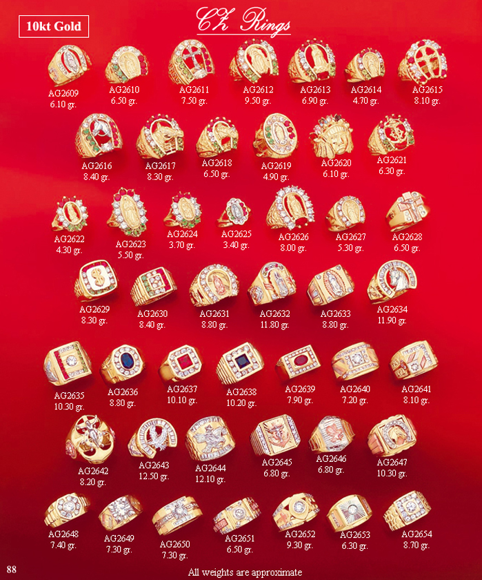 Page 88<br>Mens Color CZ Rings