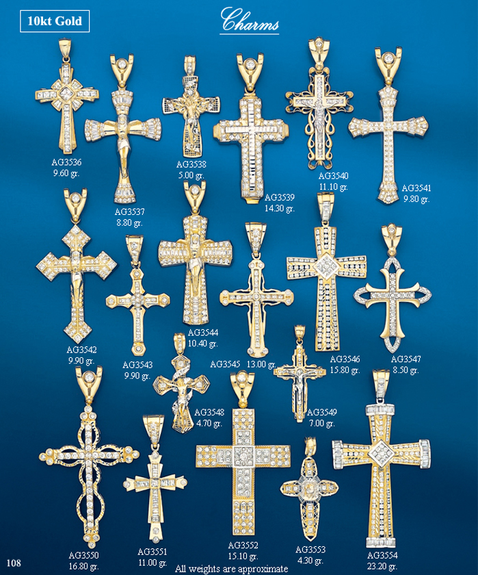 Page 108<br>Religious CZ Charms