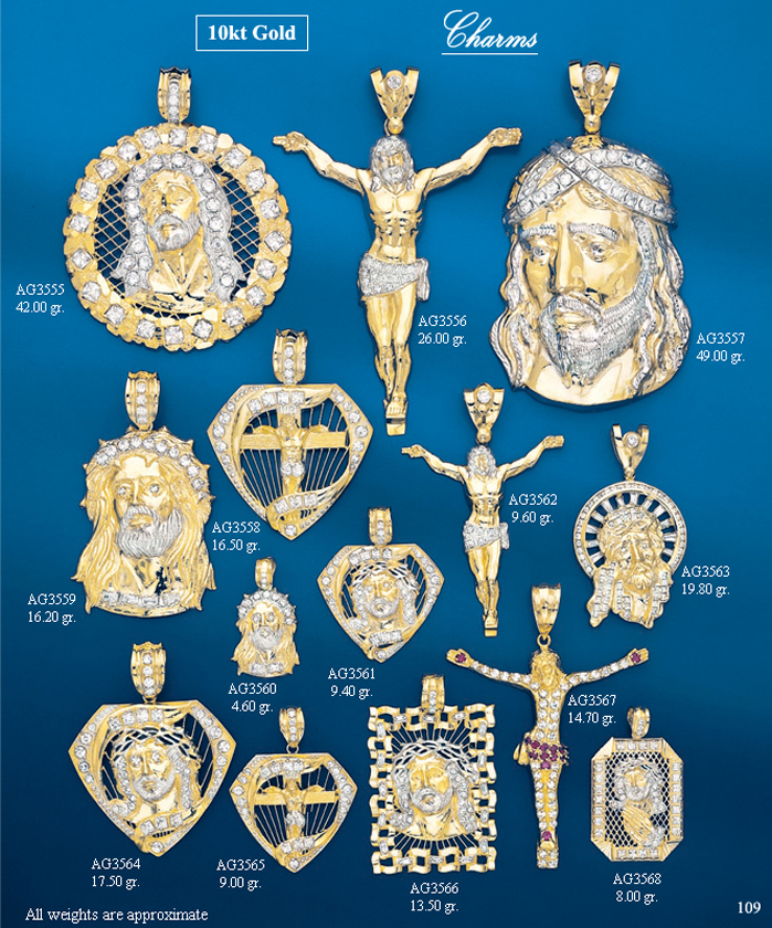 Page 109<br>Religious CZ Charms