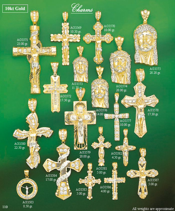 Page 110<br>Religious CZ Charms