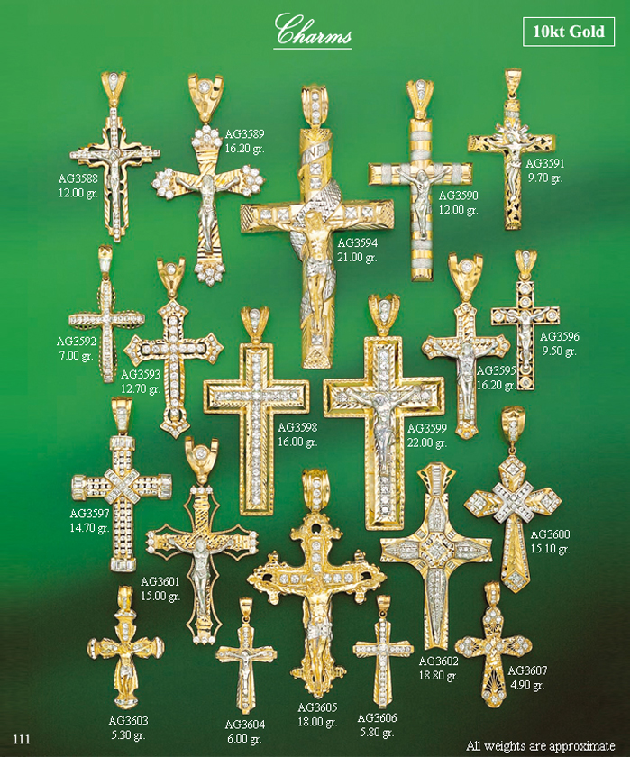 Page 111<br>Religious CZ Charms