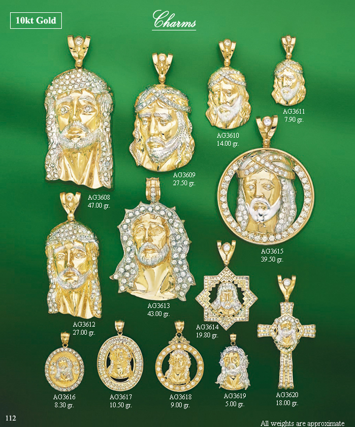 Page 112<br>Religious CZ Charms