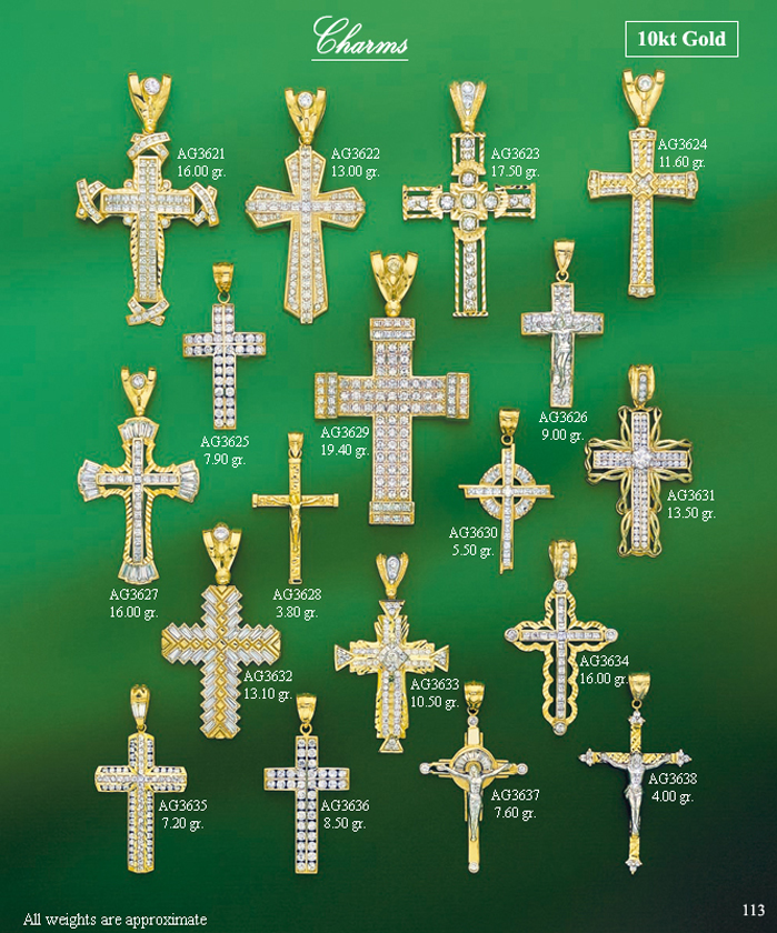 Page 113<br>Religious CZ Charms