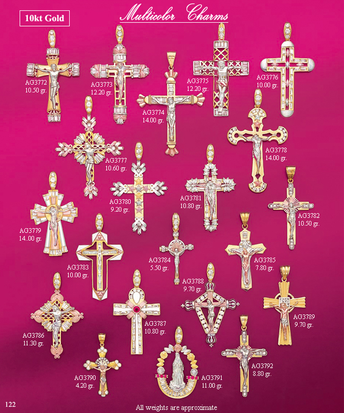 Page 122<br>Multicolor Religious Charms