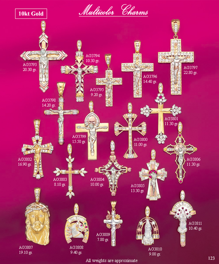 Page 123<br>Multicolor Religious Charms