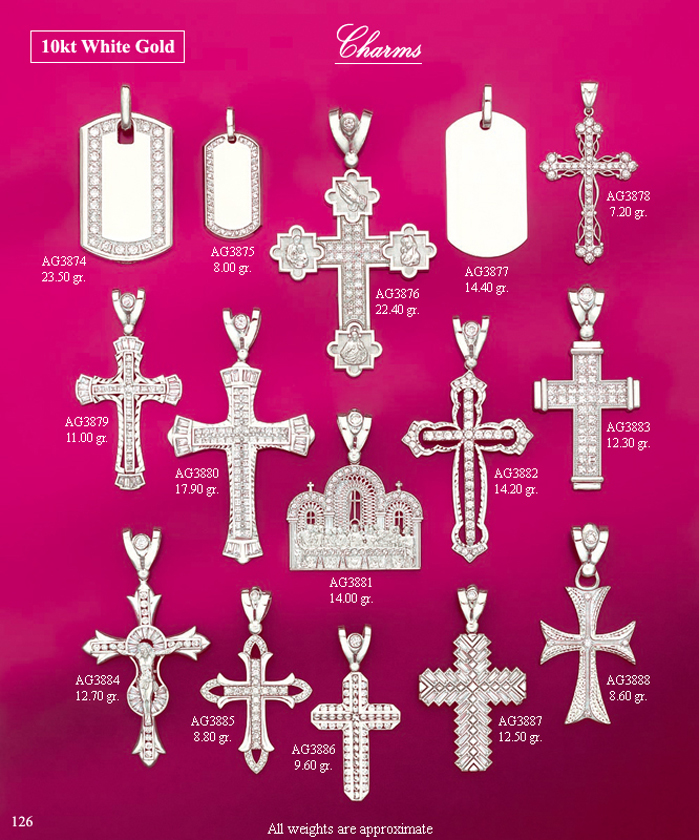 Page 126<br>Religious CZ Charms WG
