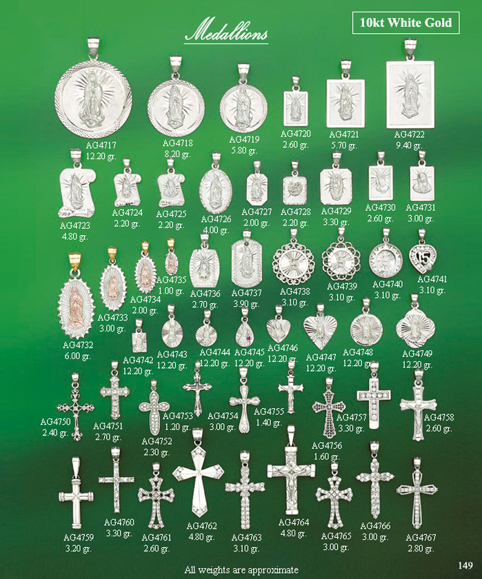 Page 149<br>Medallions White Gold