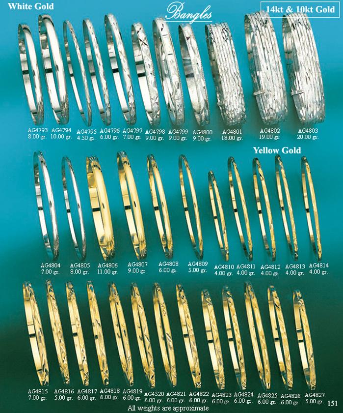 Page 151<br>Diamond Cut Bangles