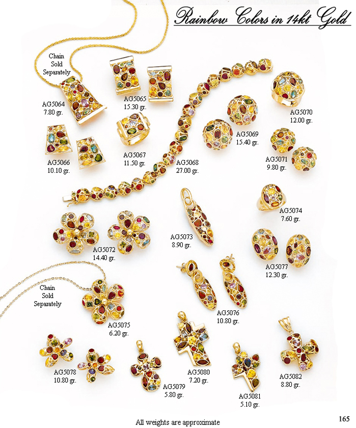 Page 165<br>Rainbow Color in 14KT Gold