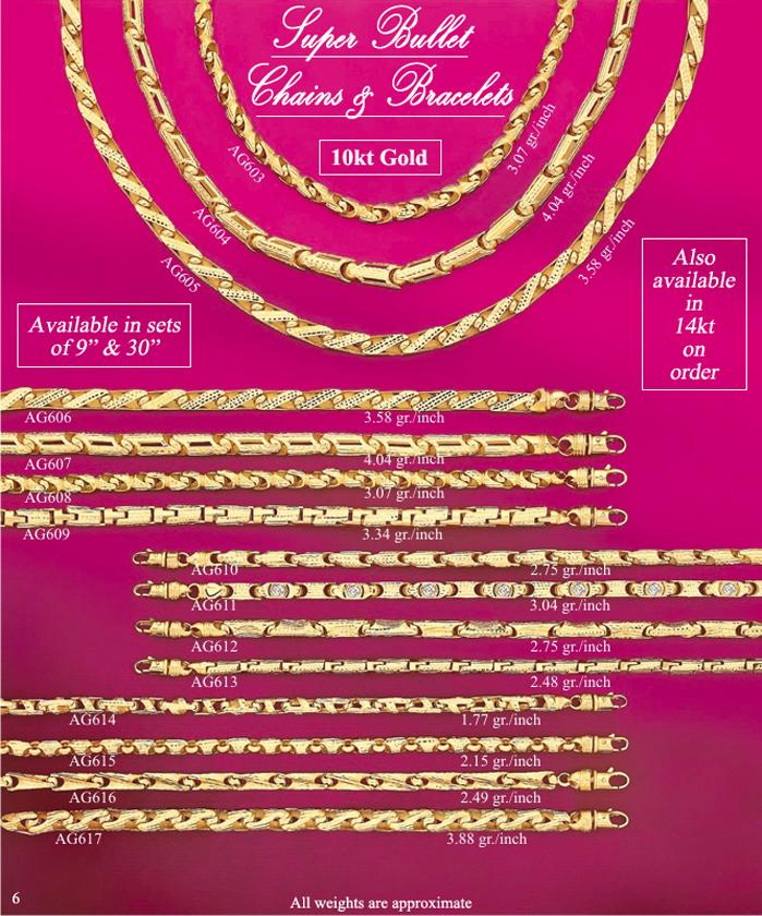 Page 6<br>Super Bullet Chains & Bracelets