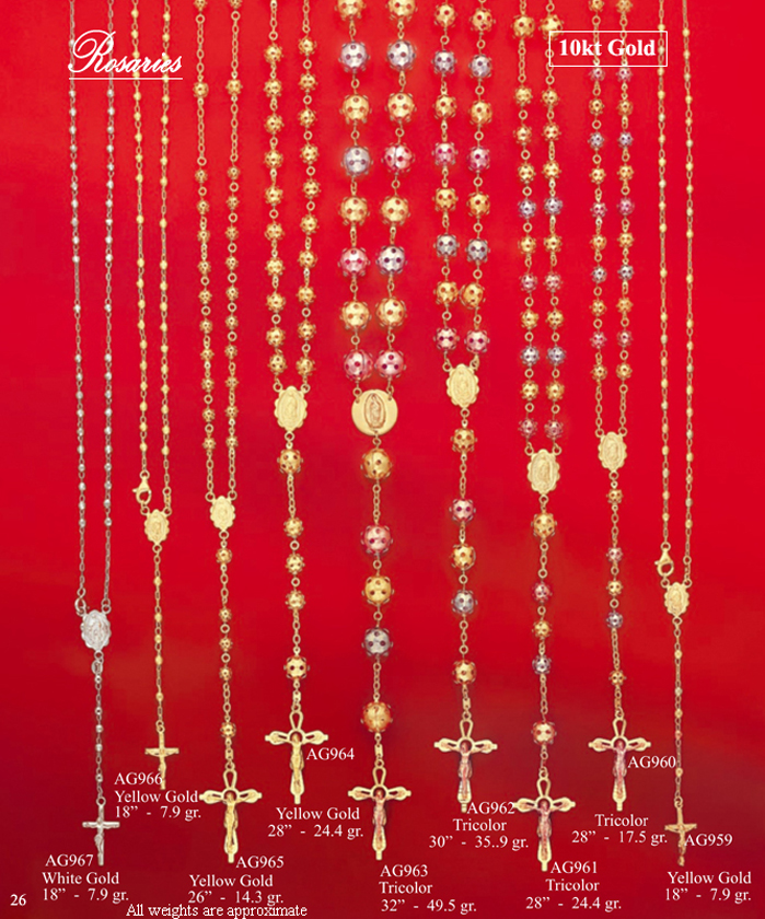 Page 26<br>10Kt Rosaries