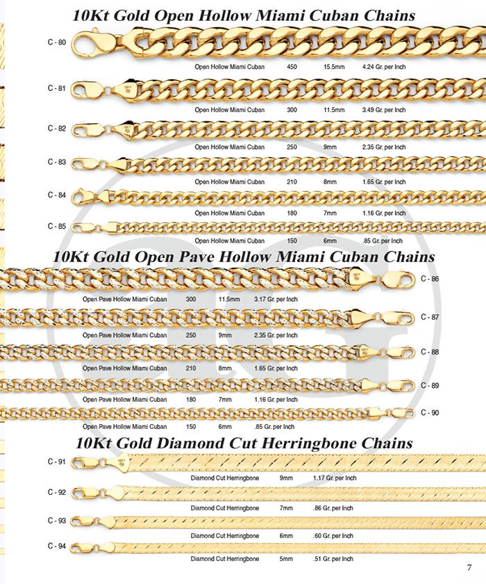 Page 07 - Open Miami Cuban Chains & DC Herringbone
