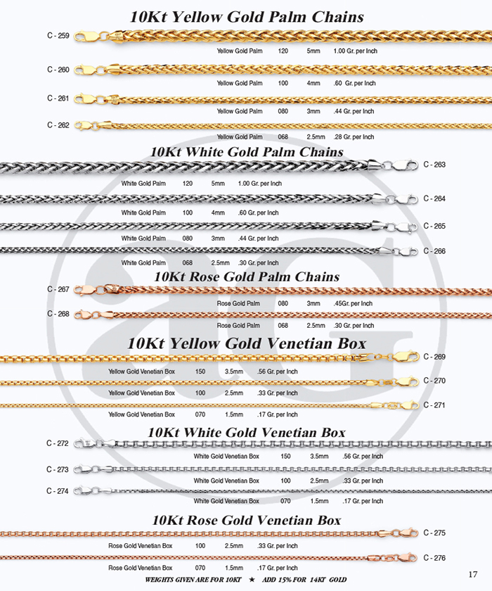 Page 17 - Palm Chains & Venetian Box Chains