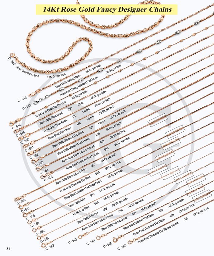 Page 34 - 14Kt Designer Chains