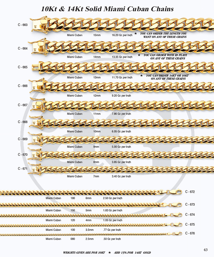 Page 43 - 10Kt & 14Kt Miami Cuban Chains