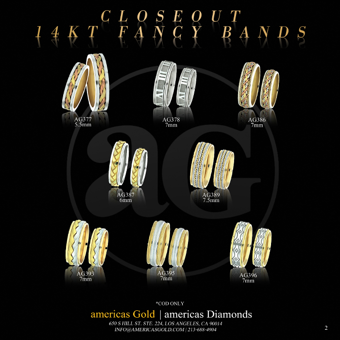 14k Fancy Wedding Bands - Page 02