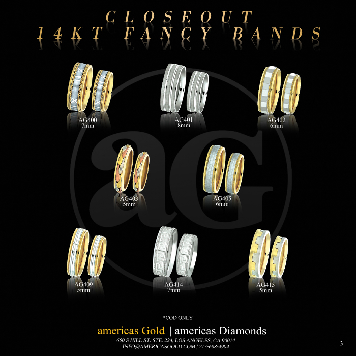 14k Fancy Wedding Bands - Page 03