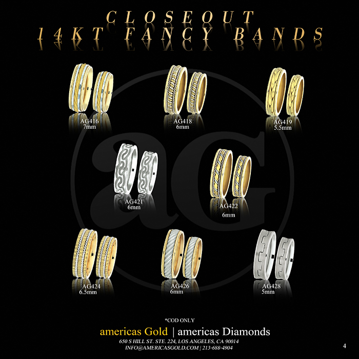 14k Fancy Wedding Bands - Page 04