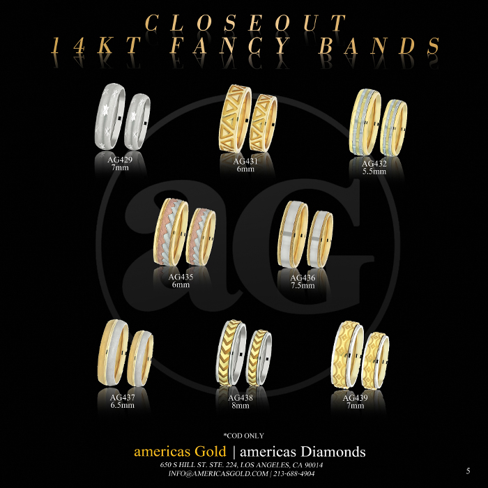 14k Fancy Wedding Bands - Page 05