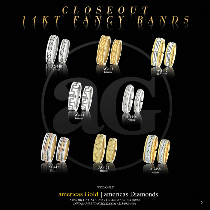 14k Fancy Wedding Bands - Page 06