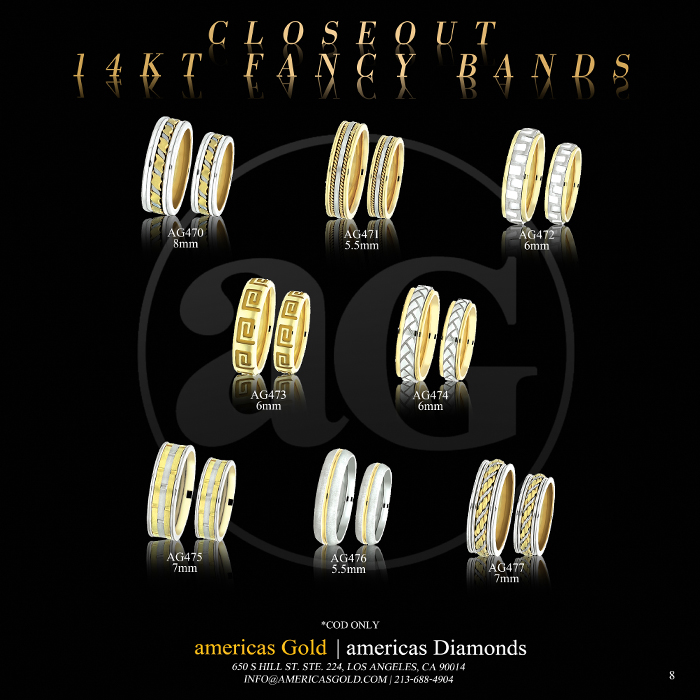 14k Fancy Wedding Bands - Page 08