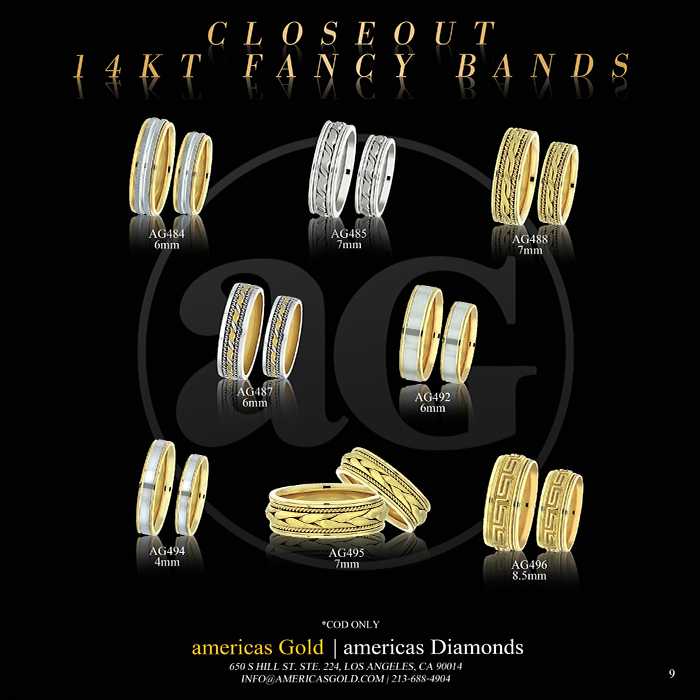 14k Fancy Wedding Bands - Page 09