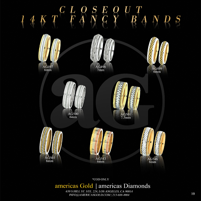 14k Fancy Wedding Bands - Page 10