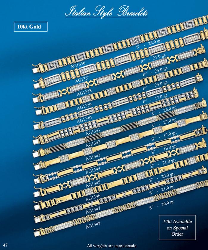 Page 47<br>Italian Style Bracelets